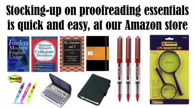 Proof Reading Course essentials from Amazon