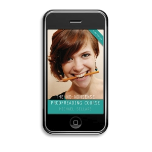 Proofreading Course on Your Mobile Phone